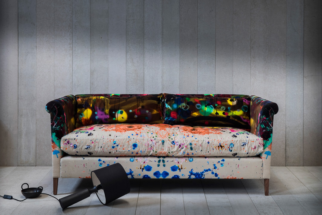 Pinch Graffito Velvet Noelle Sofa
