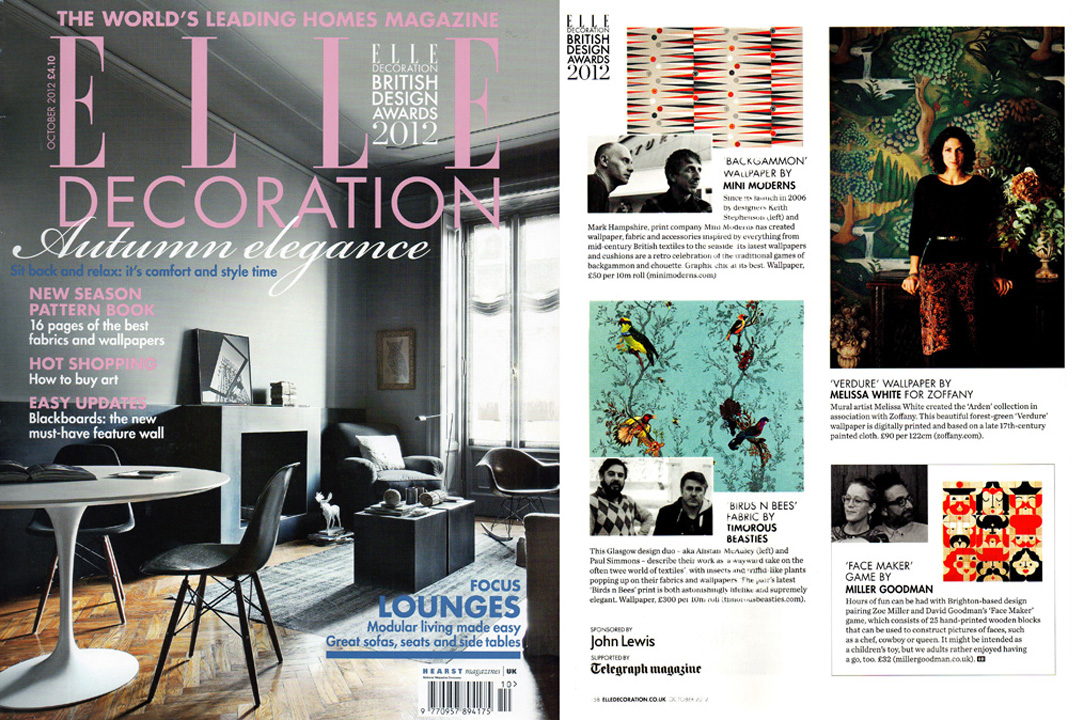 Elle Decoration, October 2012