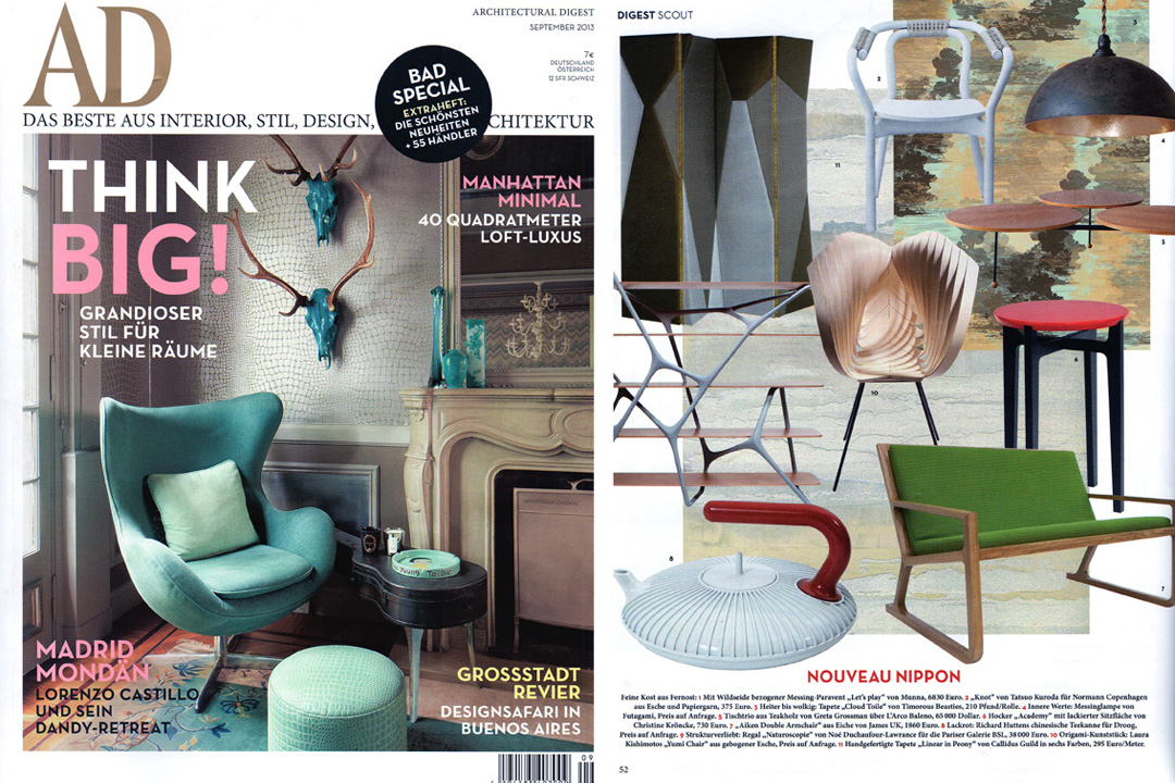 Architectural Digest Germany, September 2013