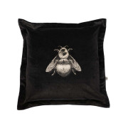 Colour Black & Pale Gold Bee on Black Velvet