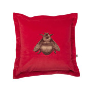 Colour Black & Pale Gold Bee on Crimson Velvet
