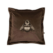 Colour Black & Pale Gold Bee on Mole Velvet