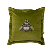 Colour Black & Pale Gold Bee on Olive Velvet