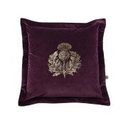 Colour Black & Pale Gold Thistle on Aubergine Velvet